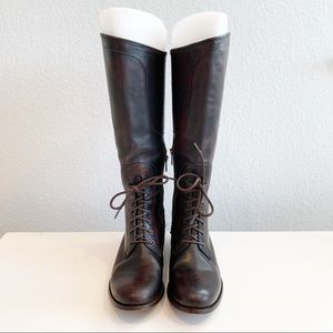 Frye Melissa Lace Riding Boots Size 8